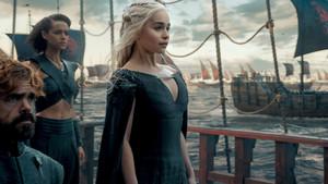 Tyrion Lannister, Missandei and Daenerys Targaryen
