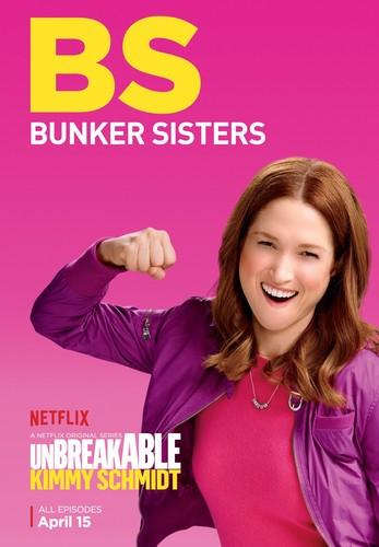 Unbreakable Kimmy Schmidt پیپر وال containing a portrait entitled Unbreakable Kimmy Schmidt - Season 2 Poster - BS