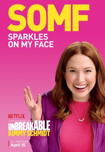 Unbreakable Kimmy Schmidt wallpaper containing a portrait entitled Unbreakable Kimmy Schmidt - Season 2 Poster - SOMF