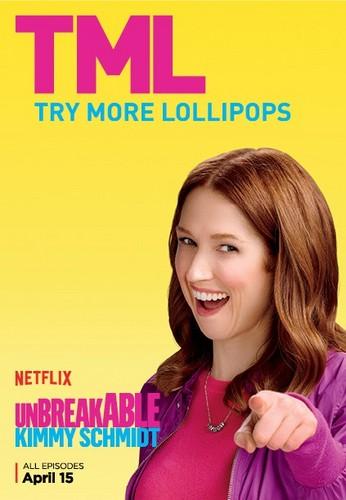 Unbreakable Kimmy Schmidt kertas dinding with a portrait called Unbreakable Kimmy Schmidt - Season 2 Poster - TML