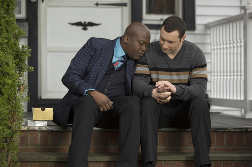 Unbreakable Kimmy Schmidt kertas dinding containing a business suit, a well dressed person, and a suit entitled Unbreakable Kimmy Schmidt - Titus and Mikey