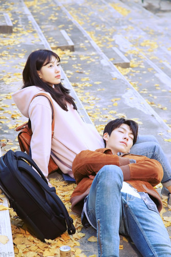 韓国ドラマ 壁紙 probably with a park bench entitled Uncontrollably Fond