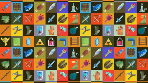 The Legend of Zelda wallpaper called Various Items