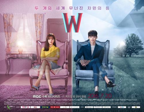 韓国ドラマ 壁紙 probably containing a business suit titled W Official Poster