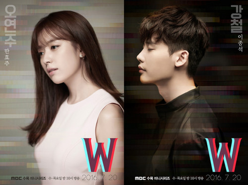 Drama Korea kertas dinding with a portrait titled W Official Poster