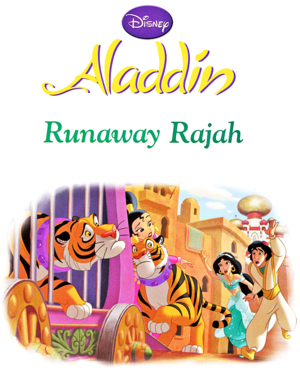 Walt ディズニー 本 - Aladdin: Runaway Rajah (English Version)