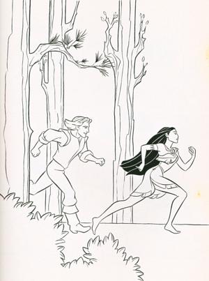 Walt Disney Coloring Pages - Captain John Smith & Pocahontas