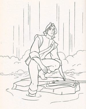 Walt 디즈니 Coloring Pages - Captain John Smith
