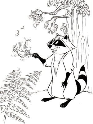 Walt डिज़्नी Coloring Pages - Flit & Meeko