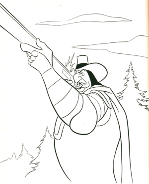 Walt ディズニー Coloring Pages - Governor Ratcliffe