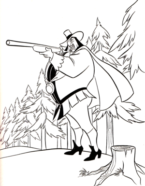 Walt Дисней Coloring Pages - Governor Ratcliffe