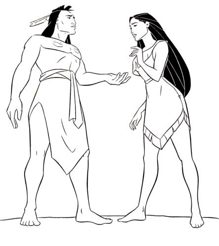 Pocahontas Kocoum Coloring Pages Coloring Pages