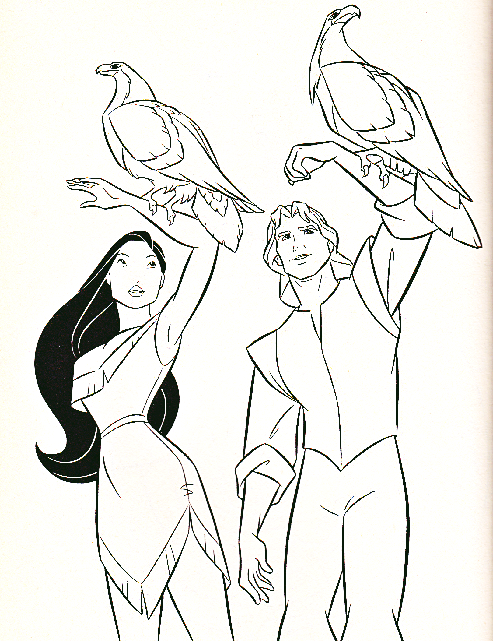 Walt Disney Coloring Pages - Pocahontas & Captain John Smith - Walt Disney  Characters Photo (39761683) - Fanpop