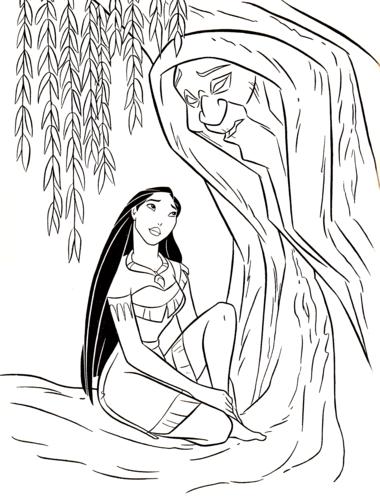 Walt Disney-Figuren Bilder Walt Disney Coloring Pages - Pocahontas ...