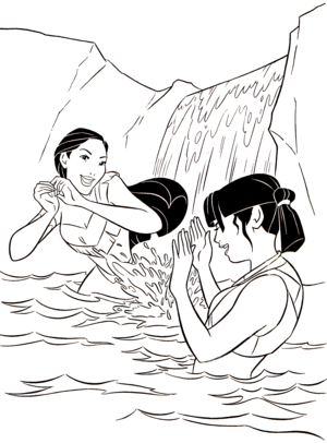 Walt ডিজনি Coloring Pages - Pocahontas & Nakoma
