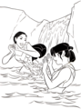 Walt 디즈니 Coloring Pages - Pocahontas & Nakoma