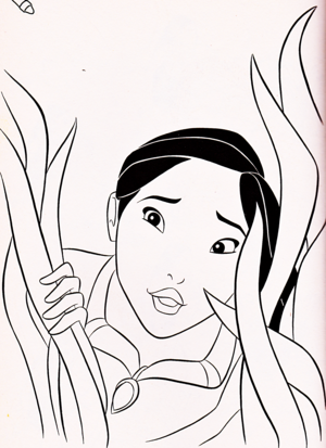 Walt ディズニー Coloring Pages - Pocahontas