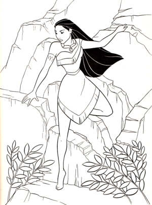 Walt Дисней Coloring Pages - Pocahontas