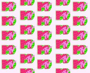 tembikai MTV Logo kertas dinding