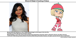 Wreck-It Ralph 2 Casting of Ideas: Mindy Kaling