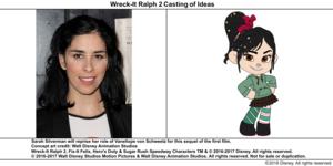Wreck-It Ralph 2 Casting of Ideas: Sarah Silverman