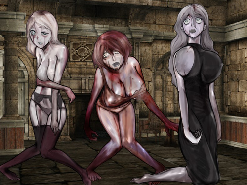 Monster Girl Quest kertas dinding entitled Zombie Girls