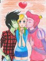 adventure time love triangle by blueberrysweet d4c0xeb - adventure-time-with-finn-and-jake fan art