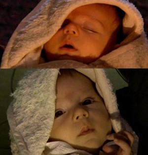 baby Luke and baby Leia