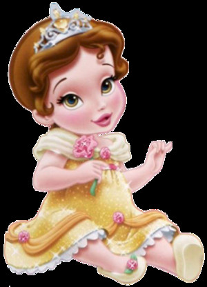 baby princess Belle clipart 1