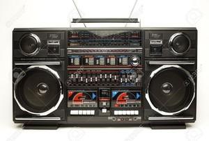 black ghetto blaster
