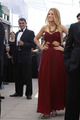 blake lively pleated burgundy chiffon cut out prom dress gossip girl fashion - blake-lively photo