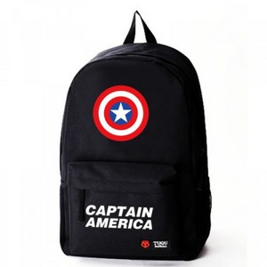 captain america shield logo schoolbag backpack