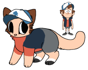 dipper cat design by bananaramadraws d8svijc