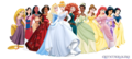 disney Princesses with Elena (Coronation Dress)