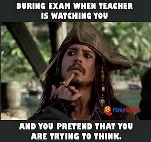 during exam