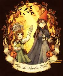 Over The Garden uithangbord achtergrond with anime titled ggggggggggg