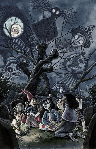 Over The Garden uithangbord achtergrond possibly containing anime called il fullxfull.755116550 6gs5