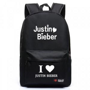 justin bieber love letters logo schoolbag backpack