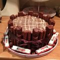 kinder bueno cake - chocolate photo