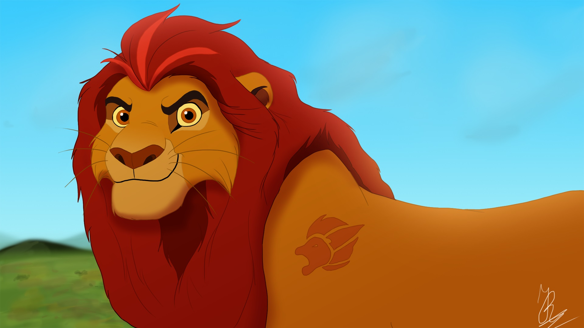 The lion guard images kion adult hd wallpaper and - Kion le roi lion ...
