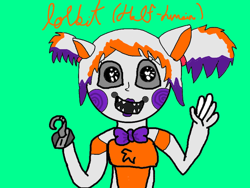 Five Nights at Freddy's kertas dinding with Anime titled lolbit