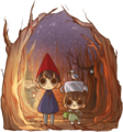 over the garden uithangbord door blobical d86nhbh