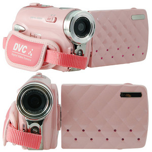 गुलाबी hd digital video camera