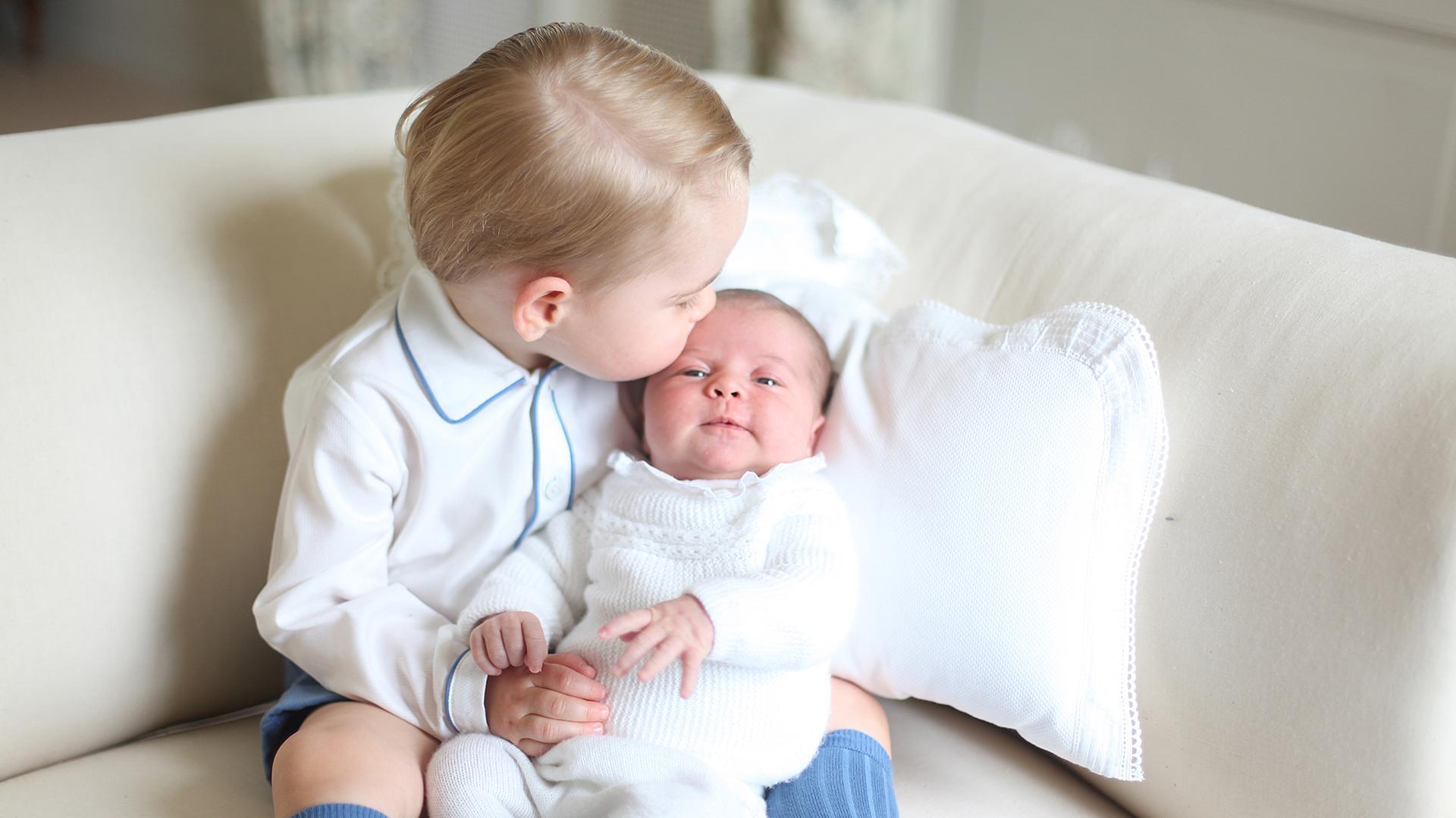 Royal Siblings Images Prince George Kissing Princess Charlotte HD Wallpaper And Background Photos