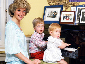 princess Diana whit William and Harry