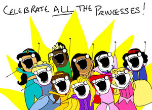 Дисней Princess Фан Art - Celebrate all the Princesses