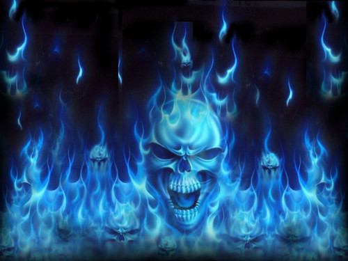 cool wallpaper fire skull - photo #28