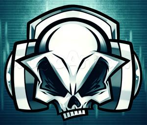 skull with headphones drawings