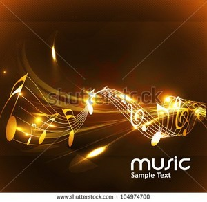 stock vector abstract music notes design for music background use vector illustration 104974700