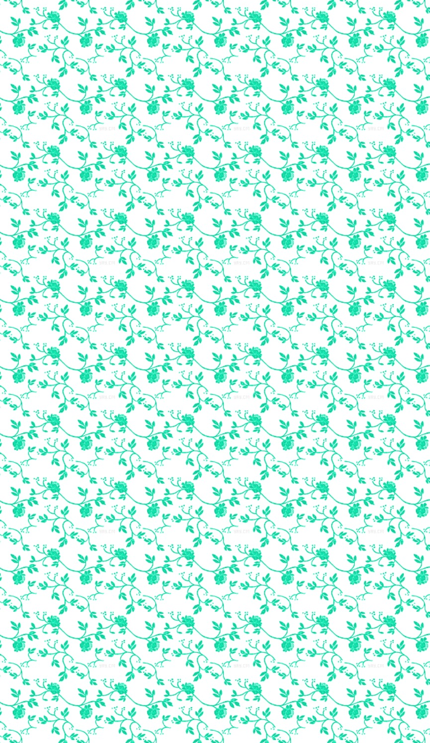 teal and white floral wallpaper